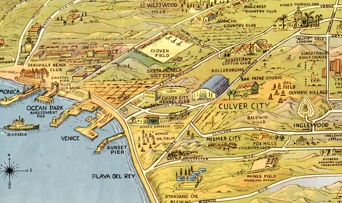 1932 map of los angeles the wonder city for In the city of la