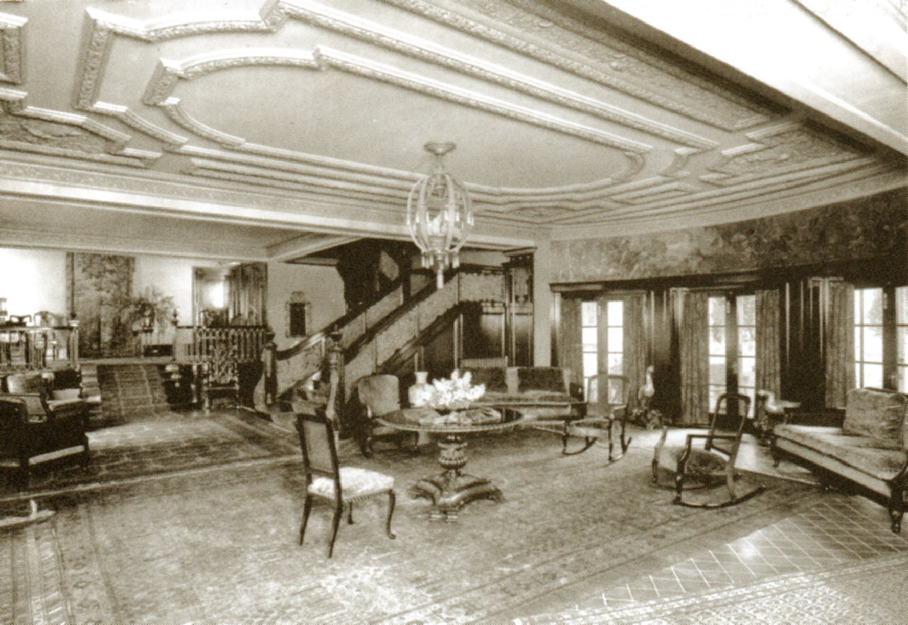 Lobby of the Garden Court Apartments at 7021 Hollywood Boulevard, in ...