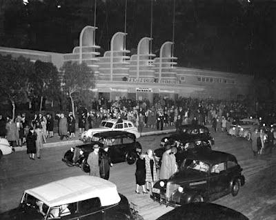 Pan Pacific Auditorium at night
