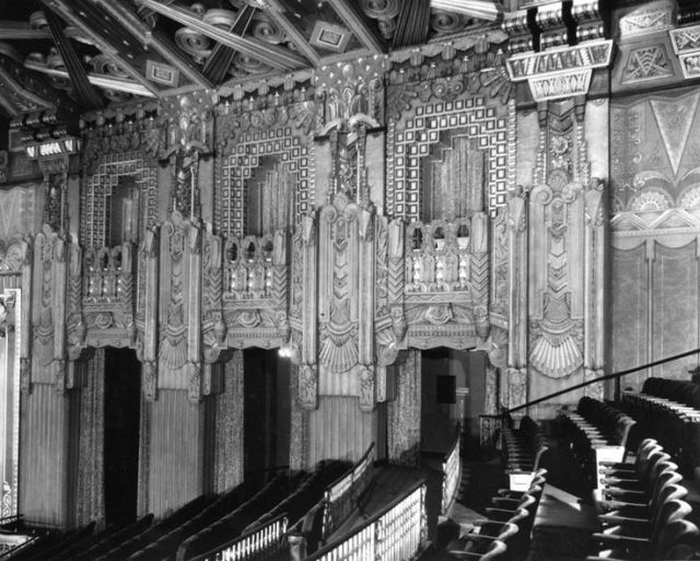 Interior of Pantages Theatre on Hollywood Boulevard.