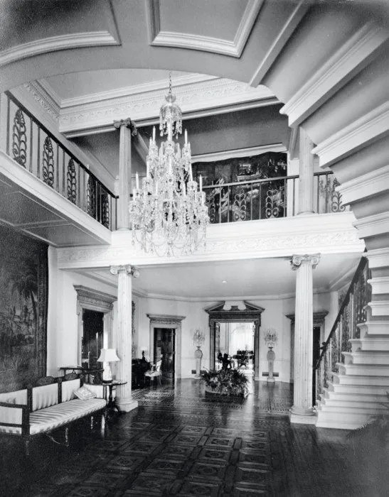 The foyer to Jack Warner's home, Angelo Drive, Beverly Hills