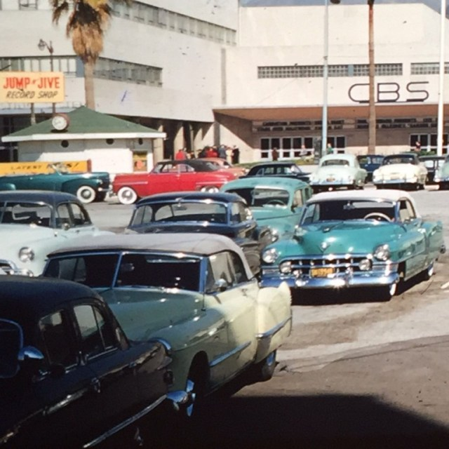 Parking lot directly across from CBS Columbia Square radio headquarters, 6121 Sunset Blvd, Los Angeles