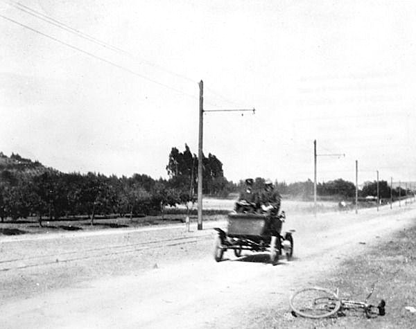 Hollywood Boulevard (Prospect Boulevard) near its intersection with Sunset Boulevard in 1904