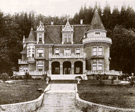 Rollin P. Lane house (now The Magic Castle) at 7001 Franklin Ave, Hollywood