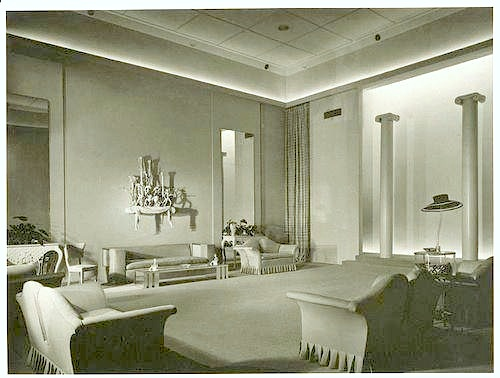 Irene Lentz Gibbons Salon at Bullocks Wilshire, circa 1930s