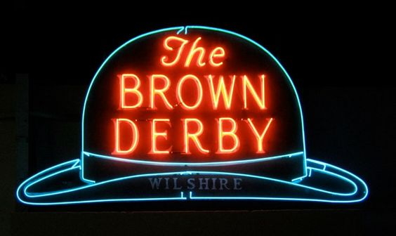 Brown Derby Wilshire Blvd neon sign