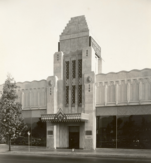 Maddux-Lincoln car dealership at 9230 Wilshire Blvd., Los Angeles, circa 1920s and/or 30s