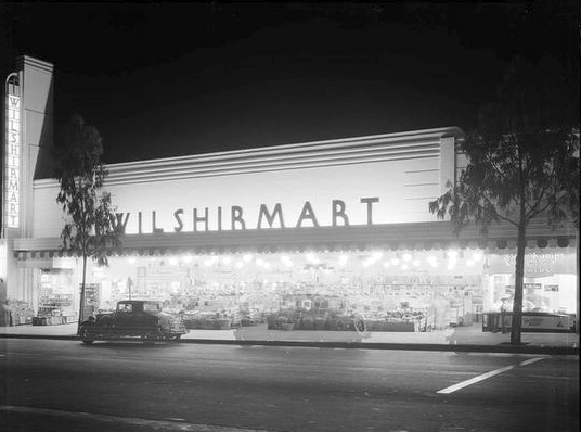 Wilshirmart, Wilshire Blvd and Doheny Dr, Beverly Hills, 1935