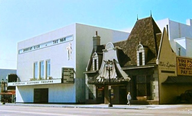 Mike Lyman's Hollywood Grill and Huntington Hartford Theatre, Vine St, Hollywood, circa early 1950s