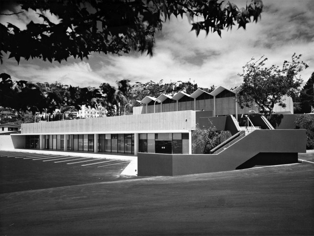 Museum of Motion Pictures and auditorium, Lytton Center, Sunset Blvd, 1962 - 1