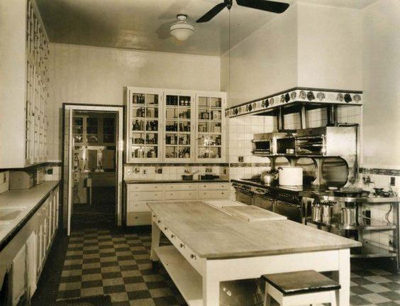 The kitchin in the Marion Davies Santa Monica Beach house