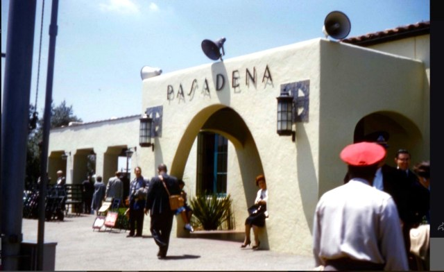 Santa Fe Railway station, Pasadena, California, 1961