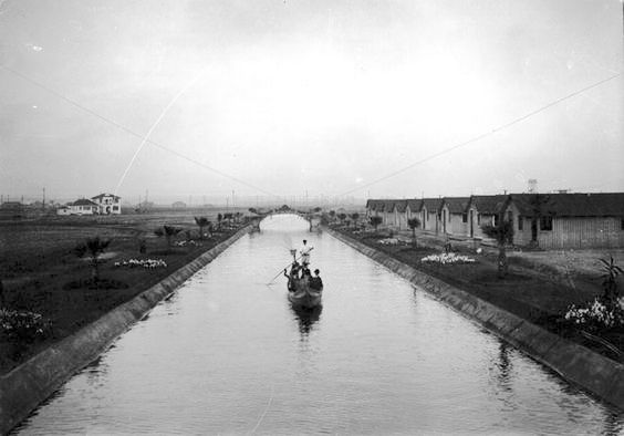 A Venice (California) canal in 1905 - the same year the project was completed.
