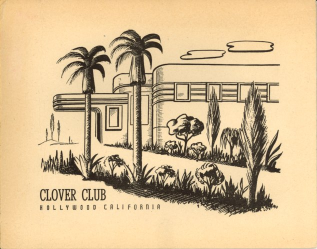Clover Club advertisement, circa 1930s