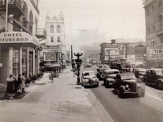 Hotel Figueroa, Figueroa Street, downtown Los Angeles, circa 1936