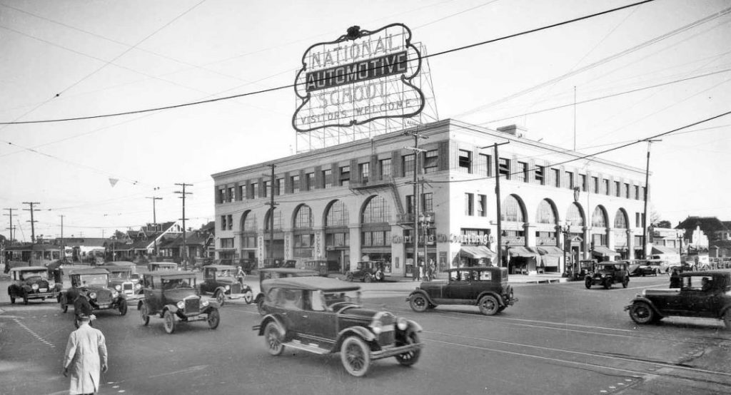 National Automotive School, 4006 South Figueroa Street, Los Angeles, mid-1920s