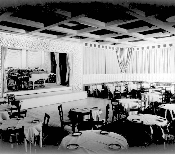 Interior of Ciro's nightclub on the Sunset Strip in Los Angeles
