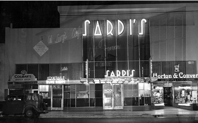 Sardi's restaurant, 6315 Hollywood Boulevard, near Vine St., circa mid 1930s