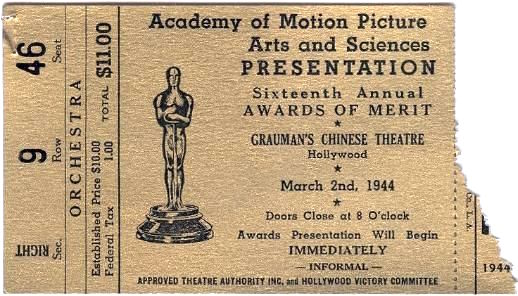 Ticket to the 16th Academy Awards, 1944