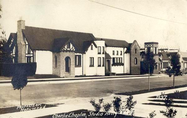 Charlie Chaplin's movie studios, La Brea Ave, Los Angeles, 1922
