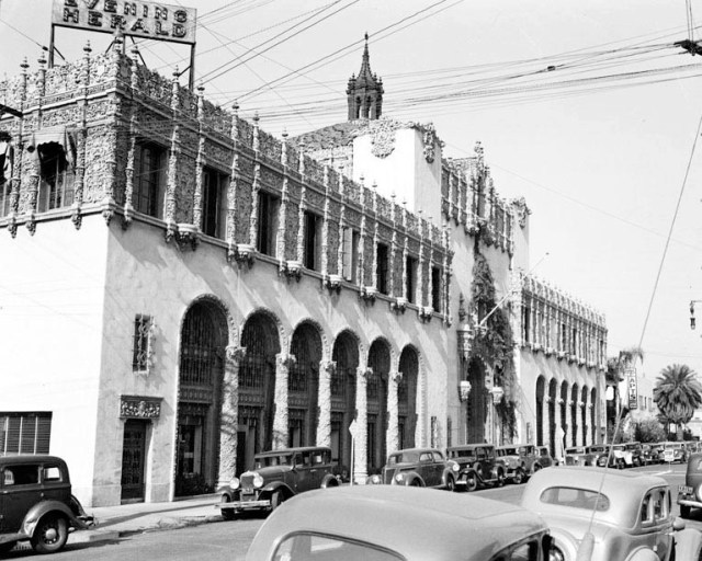 Herald-Express Building, Georgia St, downtown Los Angeles, November 1937