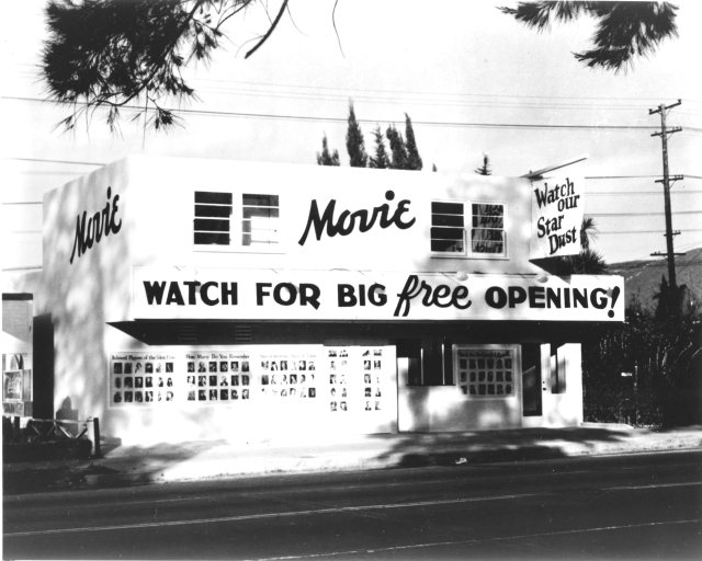 Silent Movie Theatre at 611 N. Fairfax Ave, West Hollywood, shortly before it opened in 1942