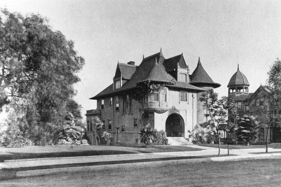 Almira Hershey's residence, corner of 4th Street and S. Grand Avenue on Bunker Hill, Los Angeles, circa 1896
