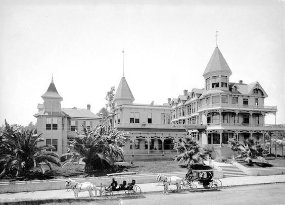 Bellevue Terrace Hotel at Figueroa & 6th, downtown Los Angeles, circa 1890