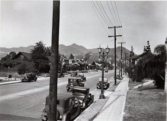La Brea Ave, north of Sunset Boulevard, Los Angeles, December 1932