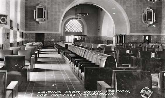 Waiting room of Los Angeles Union Station, 1939