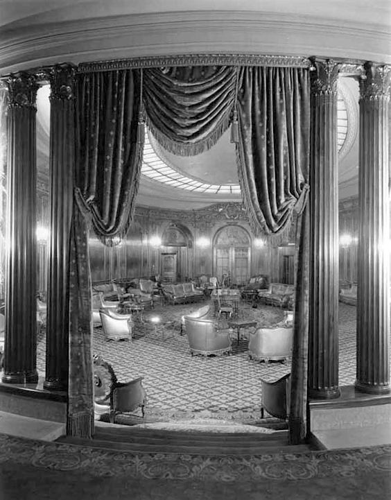 The ballroom of the Los Angeles Theatre, 615 South Broadway, in 1931, the year that it opened