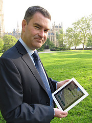 David Gauke, Exchequer Secretary, using Tax Ca...
