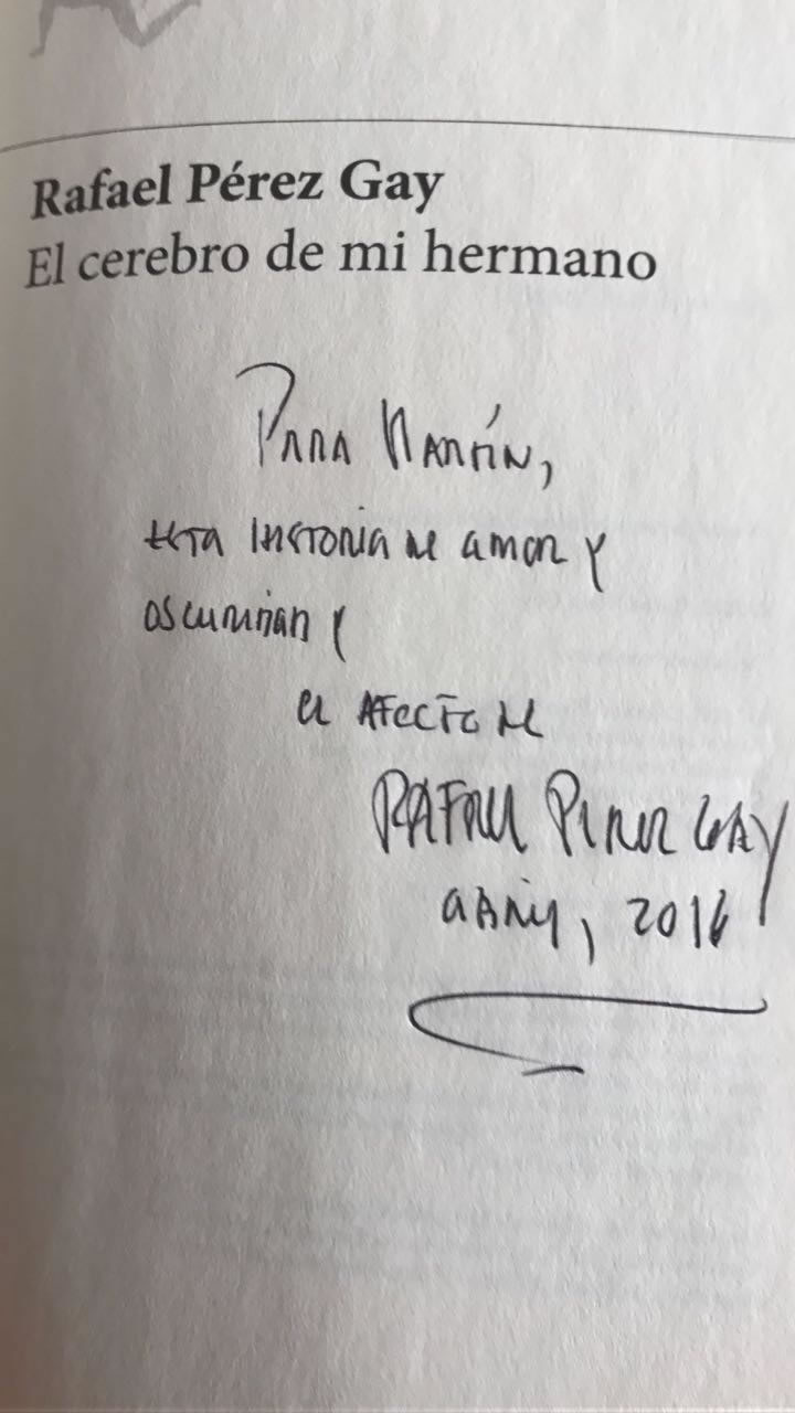 Autógrafo de Rafael Pérez Gay