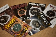 Magazine covers feature Panerai watches
