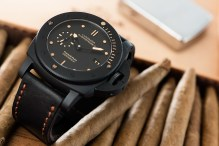 Panerai PAM508 with Tri fold strap with copper stitches
