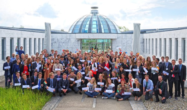 Attendees of the United Nations Framework Convention on Climate Change (UNFCCC) Strategy Role Play in St. Gallen, Switzerland. Photo provided.