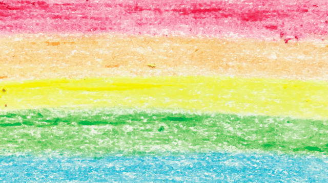 Pride rainbow in crayon