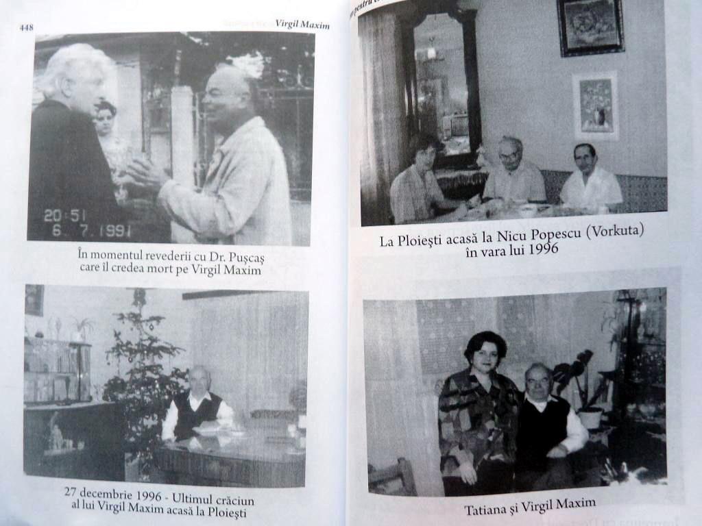 Tatiana Maxim la Ultimul Craciun cu Virgil Maxim Fotografii de Arhiva din cartea Imn pentru Crucea Purtata Ed 3 Ed Babel 4
