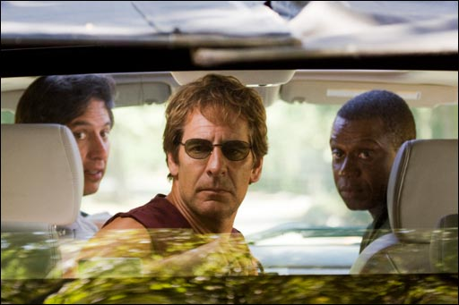 Ray Romano (l), Scott Bakula, and Andre Braugher (r) star in 'Men of a Certain Age' on TNT