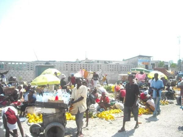A market in Port-au-Prince Haiti