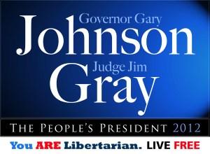 Gary Johnson Jim Gray 2012 logo Libertarian president