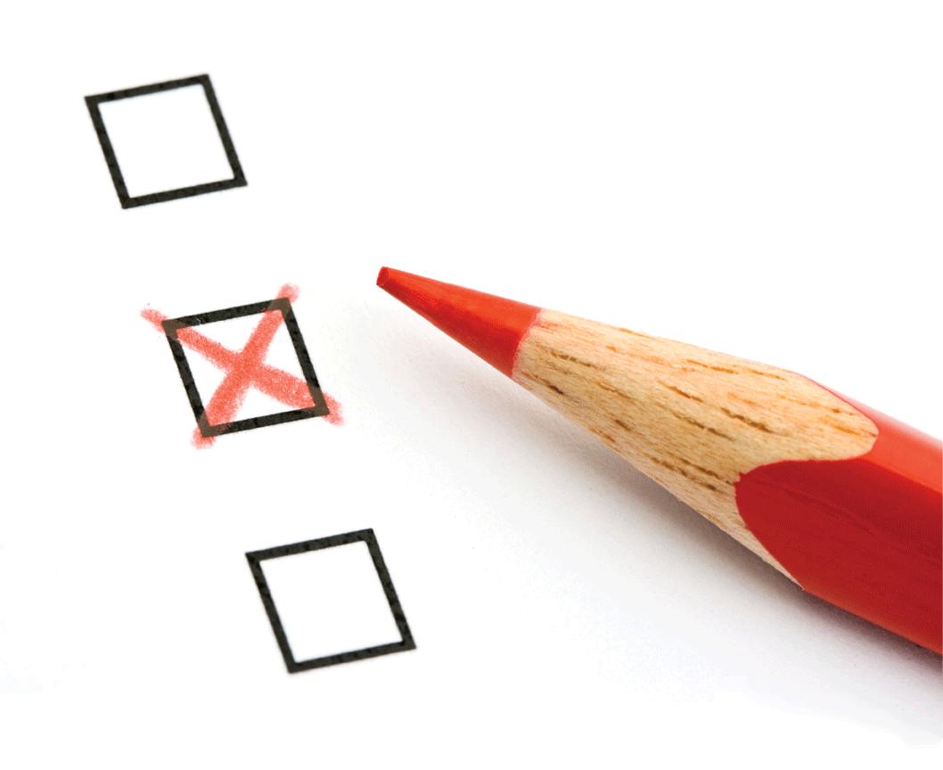 poll marking x