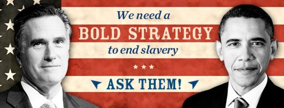 Human slavery banner