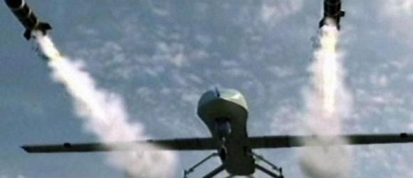 drone firing hellfire missiles