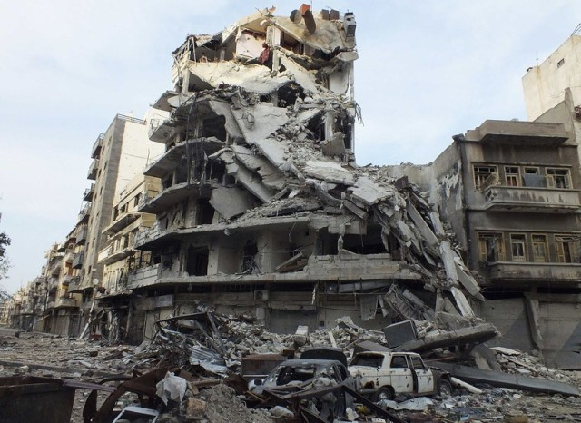 war in Syria buildings