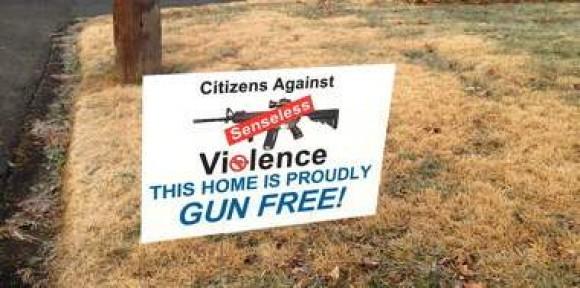 this home proudly gun free