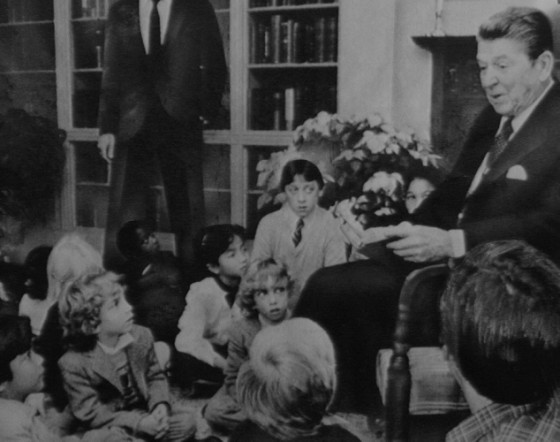 ronald reagan with children