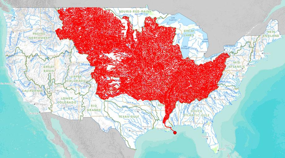 tributaries of the Mississippi