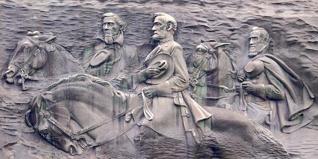 The carving on Stone Mountain, Stone Mountain, Georgia.