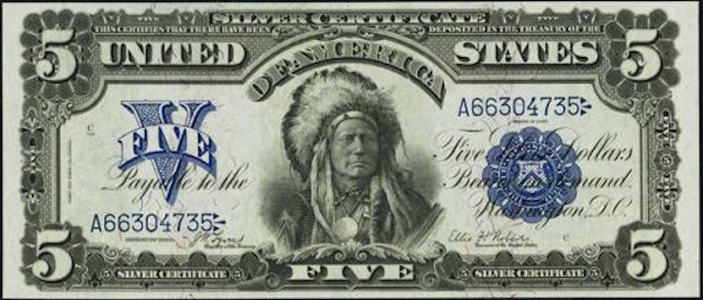 running antelope $5 bill